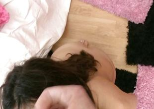 Brunette pubescent picked up coupled with fucked