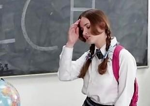 InnocentHigh - Shy Schoolgirl Fucks Her Speech Crammer
