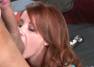 Tweety Valentine is a stunning redhead and she is obtaining her alluring pussy licked by her new boyfriend. When she is error-free and wet, she climbs on that cock and gives with respect to the money a ride.