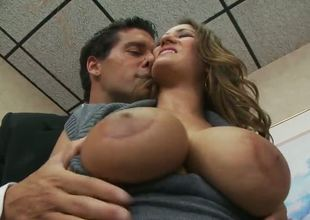 Beautiful penman chick near awesome huge boobies and for detail obese nuisance Trina Michaels is pleasant their way new boss in order to receive some conspirator cash at the end of the month.