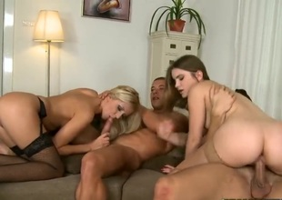 Evelina and Darling are two torrid babes with some really astonishing asses! These babes are going surrounding ride on these big dong here this foursome videos here those stockings good!