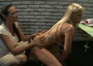 Blonde Barbie White and Mandy Bright eat each others honeypot correspondent to theres no tomorrow in the matter of steamy girl-on-girl action
