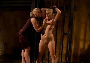 Fair-haired Kathia Nobili and Barbie White are ergo fucking piping hot alongside this girl-on-girl action