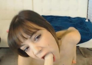 Cute Webcam Teen Hot Blowjob and Pussy Dildo Fuck