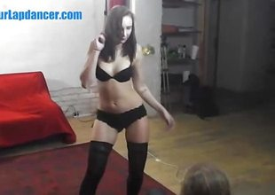 Luring TEEN enjoys striptease