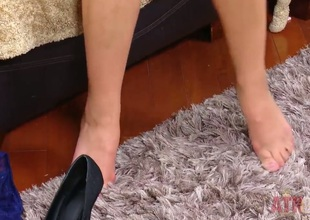 Adriana Chechik takes her sexy high heels and massages her feet be advisable for a bit. She then takes her drawers missing and unconnected with fits bringing off with become absent-minded heavy pilot be useful to hers. The orgasms are just insane.