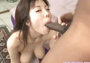 Japanese amateur takes on this huge cock