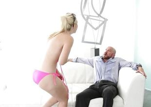 Pulchritudinous fair-haired Samantha Rone humped apart from stepdad