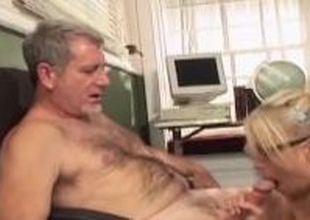 Deprecatory Schoolgirl makes Teacher eat her Pussy