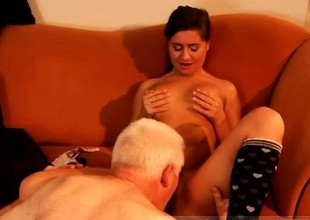 Aged hairy anal first time Latoya makes clothes, but she like