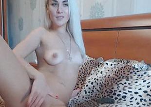 Blonde Babe Caught Masturbating