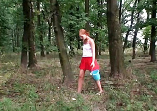 Voyeur Teen Joins Old Couple In The Woods For A Troika