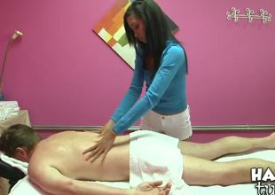 Kyle Stone tired of the daily fast work. He scarcity to get professional massage. Asian girl Rosemary is whacking big by her curable hands. Babe presents him stunning relaxational massage.