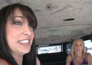 In this awesome Bang Bus episode two young hotties(Liz and Nicole Aniston) acquiesce troubling questions about mankind, give the boys directions, and fulfil some seductive posing.