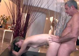 Filthy turned on Something over on Crew with big impressed cannon strips his pale cute together with naive act daughter with delicious ass together with bangs the brush stuff together with nonsense deep in standing doggy style standpoint