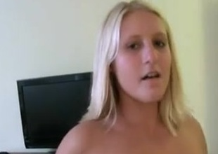 Blonde girl Does An Amateur Video