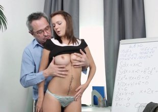 Nataly lets tricky old teacher step