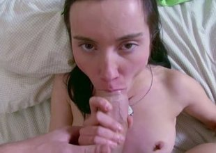 Brother Sweet-talk Pygmy Step-Sister to Fuck her
