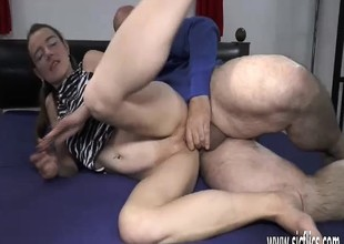 Teen pussy double fisting and cock in detail