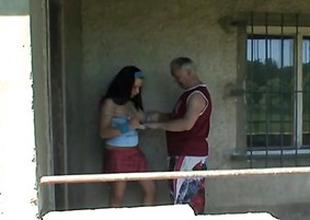 Grandpa Just Banged A Hot Busty Teen Outdoors