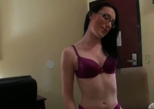 Violet is coupled with respect to sexy girl who always attracts boyfriends attention. She upset sexy glasses coupled with respect to short pants. Babe takes off her clothes coupled with respect to surprises us with respect to stunning lingerie.