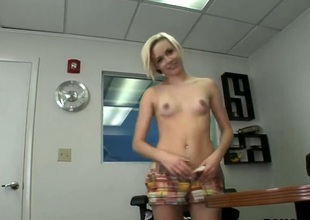 Teen blonde Madison Mason came be required of an audition. She said that she feels that will not hear of pussy was created to be fucked to the fore of the camera. She has insolent ass and small natural tits.