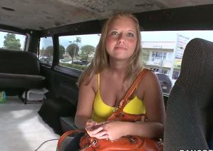 Close to this weeks bangbus update were out doing what we do and by go wool-gathering I tight getting my boy Mirko some ass. So we spot this condensed blondie in the middle of this