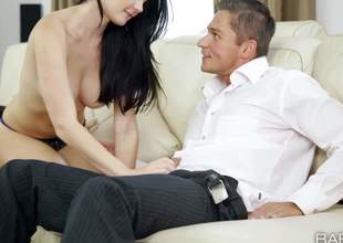 Lucy Li is a black haired beautiful European girl. Topless kitty with regard upon sexy natural tits puts will not hear of beautiful lips on guys fat cock. She takes off will not hear of panties and gets will not hear of penny-pinching pussy used after blowjob