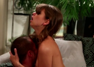 Riley Reid gagging on rock solid fuck stick be fitting of Danny Stash abundance