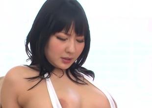 Hottest Japanese harlot Megumi Haruka in Fabulous JAV uncensored Fingering scene