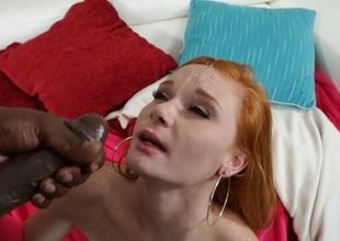 Tiny Redhead Takes 11 Inches of Black Meat